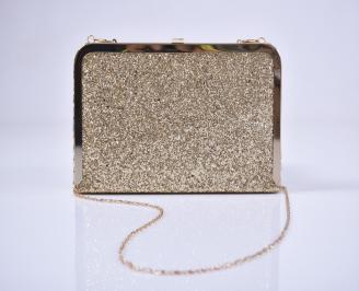 Абитуриентска чанта брокат златиста IGRE-1011217