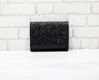 Абитуриентска чанта брокат черна. HSQY-26141