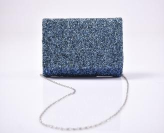 Абитуриентска чанта брокат/синя