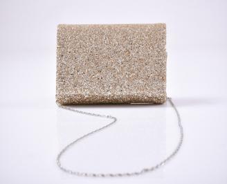 Абитуриентска чанта брокат/златиста OKWR-26162