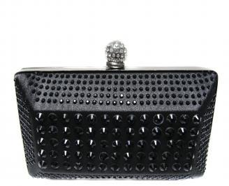 Абитуриентска чанта  черен сатен EBAN-20864