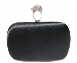 Абитуриентска чанта  черен сатен+камъни DPEW-20871