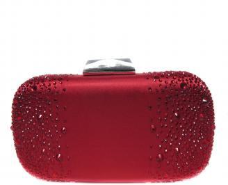 Абитуриентска чанта  червен сатен SLPU-20886