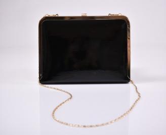 Абитуриентска чанта еко лак черна MOVO-1011223
