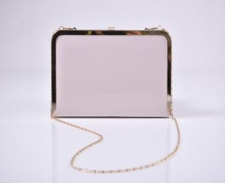 Абитуриентска чанта еко лак пудра COJI-1011224