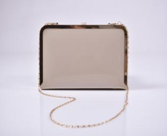 Абитуриентска чанта еко лак бежова NNEI-1011225