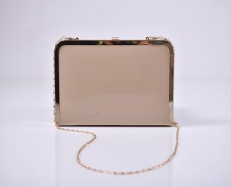 Абитуриентска чанта еко лак бежова BGAT-1011226