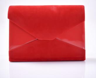 Абитуриентска чанта еко велур червен TAKS-1013415