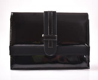 Абитуриентска чанта еко лак черен BWUT-1013417