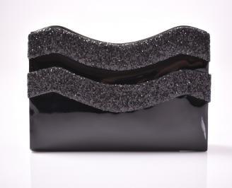 Абитуриентска чанта еко лак черна XINI-1013418