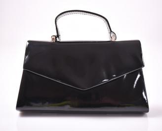 Абитуриентска чанта еко лак черна NPRJ-1013441