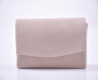 Абитуриентска чанта еко велур бежов DUEV-1013459
