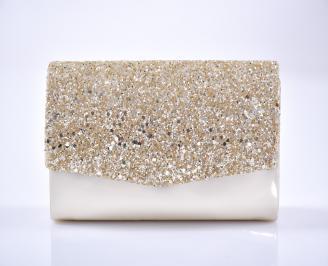 Абитуриентска чанта еко лак/брокат златиста NBMW-1013460