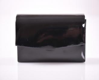 Абитуриентска чанта еко лак черен VHGJ-1013461