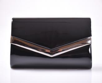 Абитуриентска чанта еко лак черна BPVW-1013466