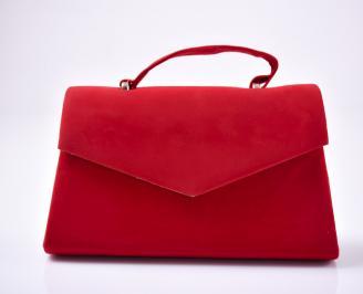Абитуриентска чанта еко велур червена GHNC-1013483