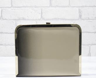 Абитуриентска чанта еко кожа/лак черно/бежаво GGKB-23449