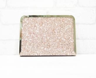 Абитуриентска чанта еко кожа/брокат розова VNRL-25760