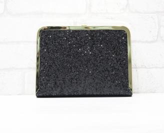 Абитуриентска чанта еко кожа/брокат черна MYUZ-25761