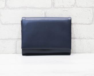 Абитуриентска чанта еко кожа тъмно синя HSTN-25770