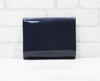 Абитуриентска чанта еко кожа /лак тъмно синя RFYW-25773