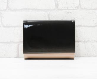 Абитуриентска чанта еко кожа /лак пудра/черно PUFI-25774