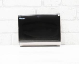 Абитуриентска чанта еко кожа/лак светла пудра/черно LCAI-25784