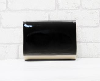Абитуриентска чанта еко кожа/лак бежово/черно LSQC-25786