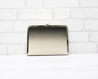 Абитуриентска чанта еко кожа/лак черно/бежаво MIQN-25790