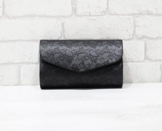 Абитуриентска чанта еко кожа/дантела черна ISVY-25895