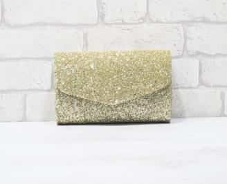 Абитуриентска чанта еко кожа/брокат златиста GRFC-25907