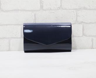 Абитуриентска чанта еко кожа/лак синя NPLN-25915