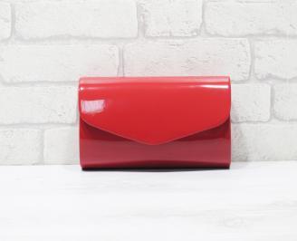 Абитуриентска чанта еко кожа /лак червена VUFP-25916