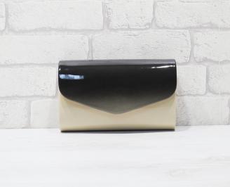 Абитуриентска чанта еко кожа /лак бежова HRIF-25919