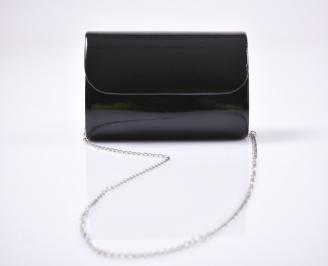 Абитуриентска чанта еко кожа /лак черна KMUZ-25923
