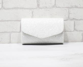 Абитуриентска чанта еко кожа /брокат бяла HLTO-25930
