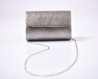 Абитуриентска чанта еко кожа сребриста UNYB-25931