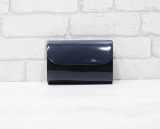 Абитуриентска чанта еко кожа /лак синя VCQE-25939