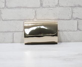 Абитуриентска чанта еко кожа /лак златиста EKAI-25946
