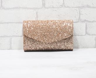 Абитуриентска чанта еко кожа/брокат розова SINN-25947