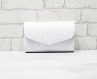 Абитуриентска чанта еко кожа /дантела бяла