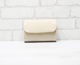 Абитуриентска чанта еко кожа /лак  бежова STPB-25955