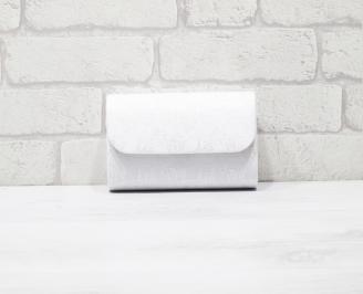 Абитуриентска чанта еко кожа/дантела бяла DOMP-25957