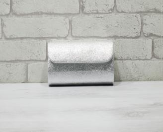 Абитуриентска чанта еко кожа сребриста FVET-25958