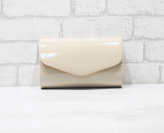 Абитуриентска чанта еко кожа /лак бежова ZWSP-25960