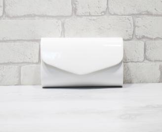 Абитуриентска чанта еко кожа /лак бяла GWEZ-25961