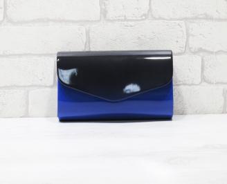 Абитуриентска чанта еко кожа /лак синя ISME-25963