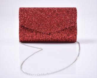 Абитуриентска чанта еко кожа/брокат червена MZDM-25965