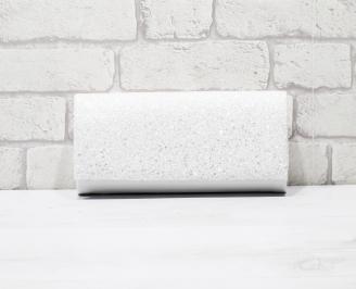Абитуриентска чанта еко лак/брокат бяла ZVRT-26140