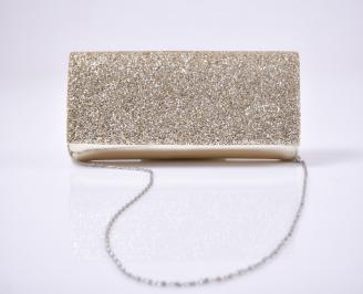 Абитуриентска чанта еко кожа/брокат златист. MUYI-26143